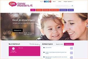 Tienermoeders.nl is speciaal gericht op tienermoeders. Gemaakt door Fiom.