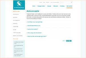 Informatie over anticonceptie op de website deverloskundige.nl. Gemaakt door de beroepsvereniging KNOV, de beroepsorganisatie van verloskundigen.